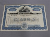 2 TIP-TOP CANNER'S OTTERVILLE STOCK CERTIFICATES
