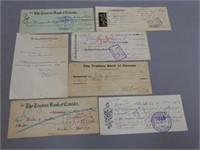 GROUPING OF 7 1900'S OTTERVILLE BANK EPHEMERA
