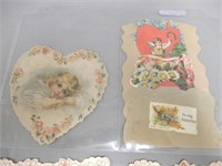 GROUPING OF 6 VINTAGE VALENTINE CARDS