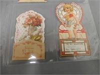 LOT OF 8 VINTAGE VALENTINE CARDS