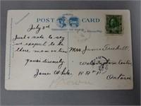 1925 C.P.R. STATION NORTH TORONTO, ONT. POST CARD