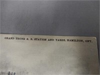 1907 GRAND TRUNK R.R. STATION  HAMILTON POSTCARD