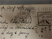 1914 STRATFORD, ONT. G.T.R. COLORED POST CARD