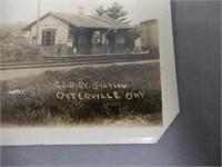 OTTERVILLE ONT. G.T.R.DEPOT REAL PHOTO POSTCARD