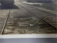 OTTERVILLE ONT C.N.R. STATION  REAL PHOTO POSTCARD