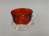 LYNEDOCH ONT. RUBY FLASH GLASS CUP