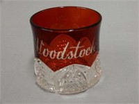 WOODSTOCK, ONT.  RUBY FLASH GLASS