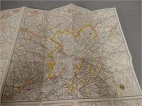1956 SUNOCO PENNSYLVANIA TOUR-MAP