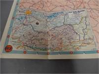 1950'S GULF DEALER TOURGUIDE MAP
