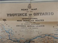 1929 ONTARIO & INTERNATIONAL MAIN ROUTES MAP