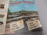 1957 FLORIDA SILVER SPRINGS RESORT MAP