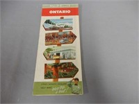 1950'S CITIES SERVICE ONTARIO ROAD MAP