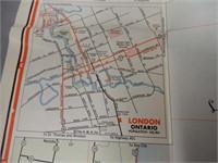 1961 SUPERTEST ONTARIO ROAD MAP