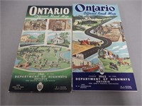 LOT OF 4 OFFICIAL ONTARIO ROAD MAPS