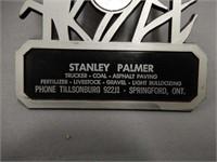 STANLEY PALMER, TRUCKER ADVERTISING THERMOMETER
