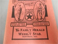 1918 FAMILY HERALD & WEEKLY STAR WAR MAP