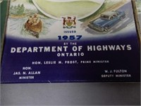 LOT OF 3 OFFICIAL ONTARIO ROAD MAPS