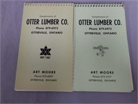 LOT OF 3 OTTER LUMBER COMPLIMENTARY NOTEPADS