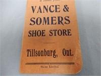 LOT OF 3 TILLSONBURG, ONT. ADVERTISING NOTEBOOKS