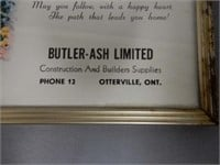 BUTLER-ASH CONSTRUCTION WALL ADV. THERMOMETER