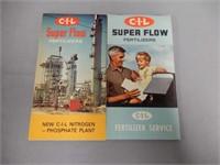 1965 & 1967 C-I-L FERTILIZER SERVICE NOTE BOOKS