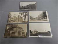 LOT OF 5 1900'S NORWICH ONT. REAL PHOTO POST CARDS
