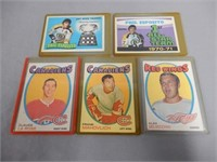 LOT OF 6 1971- 1972  OPEE CHEE HOCKEY CARDS