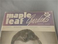 1951 MAPLE LEAF GARDENS 25 CENT OFFICIAL PROGRAM