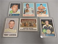 LOT OF 6 1970'S OPEE CHEE HOCKEY CARDS