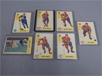 LOT OF 7 MONTREAL & MAPLE LEAF HOCKEY CARDS