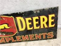 JD Metal Implement sign 72 by 24 inches