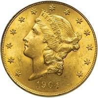 $20 1904 PCGS MS63