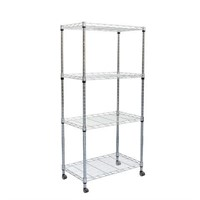 4 TIER ADJUSTABLE METAL STORAGE (NOT ASSEMBLED)