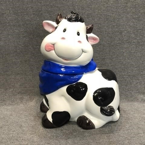 Happy Cow Cookie Jar Ceramic Hanford Auction House