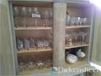 Large assortment of glassware