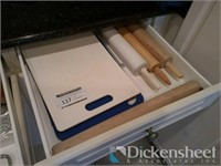Three drawers of assorted