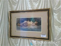 """Galvan signed """"A Nude Study"""" pastel on paper,"""