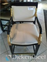 (3) Tan leatherette black and