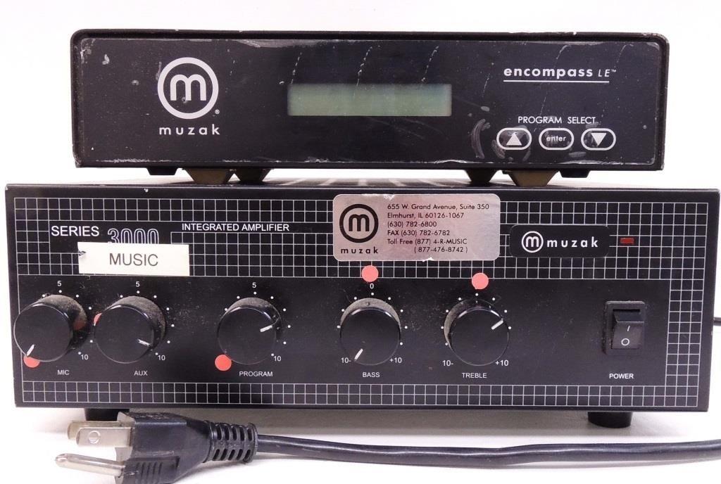 Series 3000 Muzak Amplifier & Encompass Turner | Lot 14