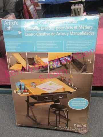 New Arts Crafts Creative Center Table Stool Kenny Bland Auctions