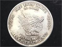 1981 U.S. ASSAY OFFICE 1 OZ. .999  SILVER TOKEN