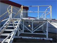 Work Gantry on Steel Casters with Stairs