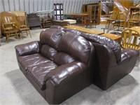 Nice Leather Sofa & Loveseat