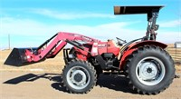 2011 Case IH Farmall 55A w/heavy duty Case IH LX530 Loader, MFWD, canopy, 264 hrs, good rubber, 1-pr remotes, 4-cyl diesel eng, great cond, SN: 7131902