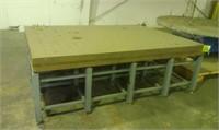 Welding layout table very heavy duty 8 foot by 6