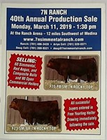7N Ranch  40th Annual Production Sale