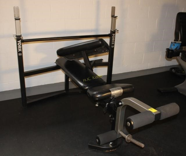 York Force3 Weight Lifting Bench And More H K Keller