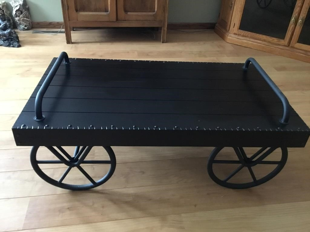Trolley Cart Coffee Table Lake Country Sales