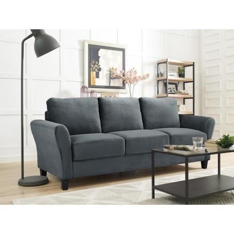 Sensational Westin Dark Grey Sofa With Rolled Arm Delaney Online Auctions Inzonedesignstudio Interior Chair Design Inzonedesignstudiocom