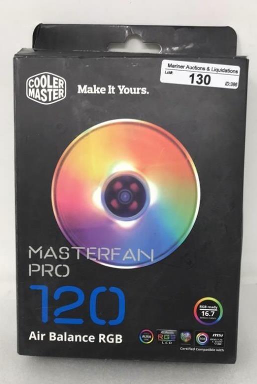 Cooler Master Masterfan Pro 120 Air Balance RGB   Mariner
